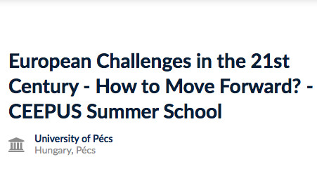 Pécs Summer School - European...
